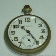 Relojes de bolsillo: RTS-RELOJ BOLSILLO MARCA TROVATO SWISS MADE GRABADO 1912-FALTAN PIEZAS-SIN FUNCIONAR. Lote 26695491