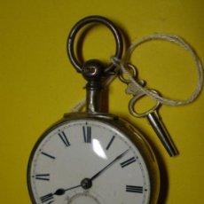 Relojes de bolsillo: RELOJ DE BOLSILLO MUY ANTIGUO CON SU LLAVE. Lote 23965759