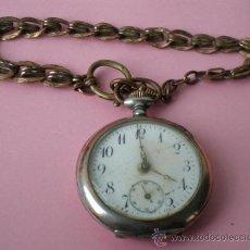 Relojes de bolsillo: REMANTOIR – 10 RUBÍES .. PLATA 0,800. Lote 24694137