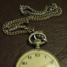 Relojes de bolsillo: RTS-RELOJ DE BOLSILLO ANTIGUO CON CADENA- FALTA PIEZA SEGUNDERA-SIN FUNCIONAR. Lote 27262108