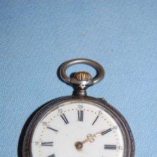 Relojes de bolsillo: RELOJ DE BOLSILLO EN PLATA. Lote 27947304