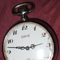 Relojes de bolsillo: RELOJ DE BOLSILLO DE CUERDA FUNCIONANDO MARCA ERVIL PARIS. Lote 29344608