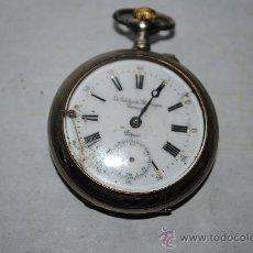 Relojes de bolsillo: RELOJ CYLINDRE 10 RUBIS CAJA DE PLATA 2 TAPAS. Lote 29474549