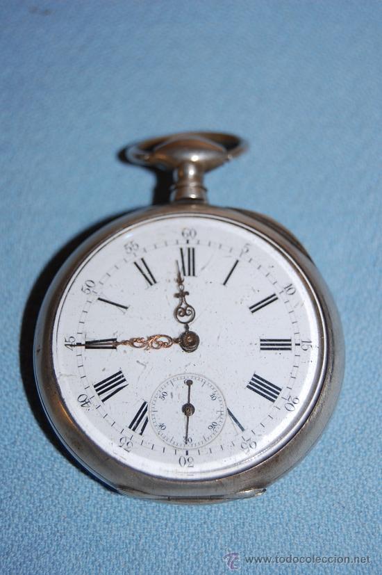 RELOJ BOLSILLO EN PLATA (Relojes - Bolsillo Carga Manual)