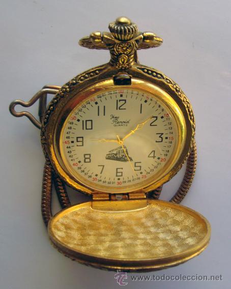 RELOJ DE BOLSILLO . CHAPADO DORADO . YVES RENOID (Relojes - Bolsillo Carga Manual)