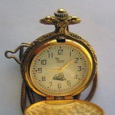 Relojes de bolsillo: RELOJ DE BOLSILLO . CHAPADO DORADO . YVES RENOID. Lote 29969680