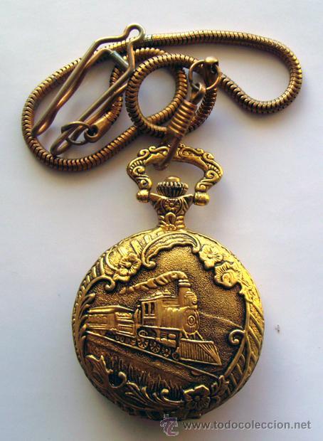 Relojes de bolsillo: RELOJ DE BOLSILLO . CHAPADO DORADO . YVES RENOID - Foto 2 - 29969680