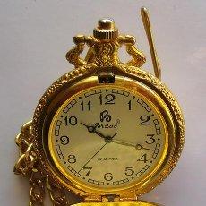 Relojes de bolsillo: RELOJ DE BOLSILLO . CHAPADO DORADO . BRAVO .. QUARTZ. Lote 29969729