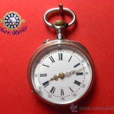 Relojes de bolsillo: ,,,RELOJ DE BOLSILLO,,,DAMA,,,PLATA 800 DOS TAPAS,,FUNIONANDO Y EN HORA,( B - 3 ).. Lote 30155967