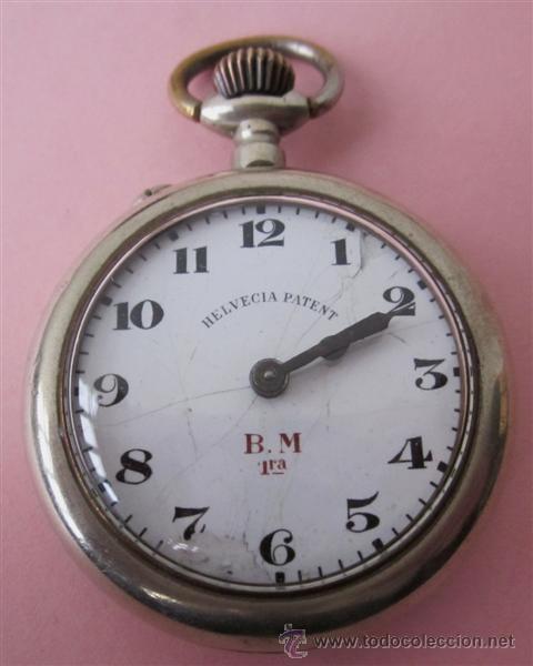 HELVENCIA PATENT – B.M 1ª ... NO FUNCIONA (Relojes - Bolsillo Carga Manual)