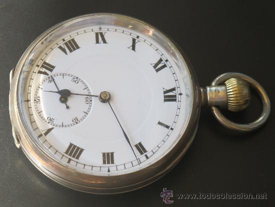RELOJ BOLSILLO - PLATA - FUNCIONA PERFECTAMENTE (Relojes - Bolsillo Carga Manual)