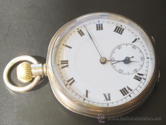 Relojes de bolsillo: RELOJ BOLSILLO - PLATA - FUNCIONA PERFECTAMENTE - Foto 2 - 31216169