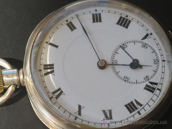 Relojes de bolsillo: RELOJ BOLSILLO - PLATA - FUNCIONA PERFECTAMENTE - Foto 3 - 31216169