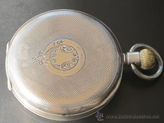 Relojes de bolsillo: RELOJ BOLSILLO - PLATA - FUNCIONA PERFECTAMENTE - Foto 4 - 31216169