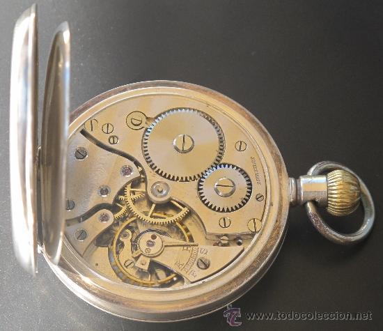 Relojes de bolsillo: RELOJ BOLSILLO - PLATA - FUNCIONA PERFECTAMENTE - Foto 10 - 31216169