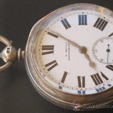 Relojes de bolsillo: MAGNIFICO RELOJ BOLSILLO CAJA PLATA - LLAVE - FUNCIONANDO. Lote 31238513