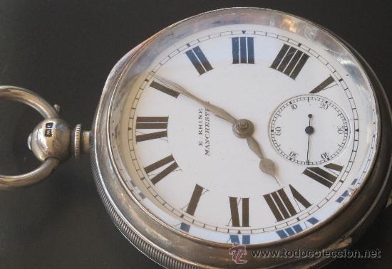 Relojes de bolsillo: MAGNIFICO RELOJ BOLSILLO CAJA PLATA - LLAVE - FUNCIONANDO - Foto 2 - 31238513