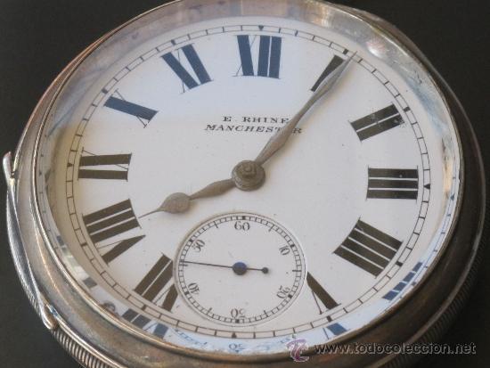 Relojes de bolsillo: MAGNIFICO RELOJ BOLSILLO CAJA PLATA - LLAVE - FUNCIONANDO - Foto 3 - 31238513