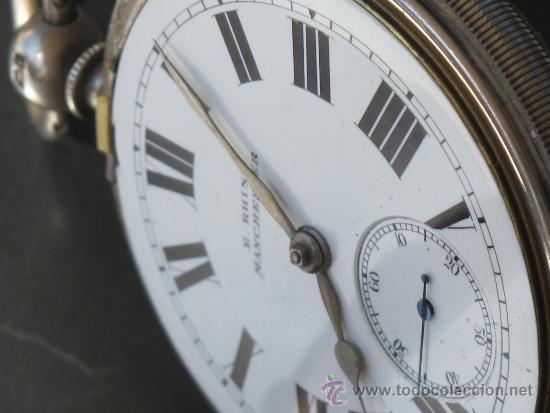 Relojes de bolsillo: MAGNIFICO RELOJ BOLSILLO CAJA PLATA - LLAVE - FUNCIONANDO - Foto 7 - 31238513