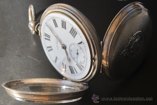 Relojes de bolsillo: MAGNIFICO RELOJ BOLSILLO CAJA PLATA - LLAVE - FUNCIONANDO - Foto 8 - 31238513