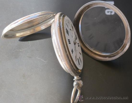 Relojes de bolsillo: MAGNIFICO RELOJ BOLSILLO CAJA PLATA - LLAVE - FUNCIONANDO - Foto 9 - 31238513