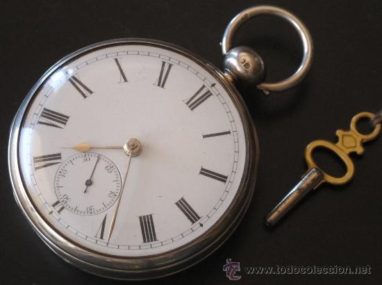 Relojes de bolsillo: MAGNIFICO RELOJ BOLSILLO CAJA PLATA - LLAVE - FUNCIONA PERFECTAMENTE - Foto 2 - 90349370