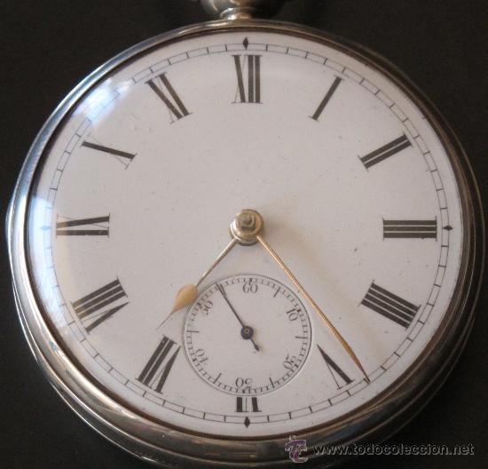 Relojes de bolsillo: MAGNIFICO RELOJ BOLSILLO CAJA PLATA - LLAVE - FUNCIONA PERFECTAMENTE - Foto 3 - 90349370