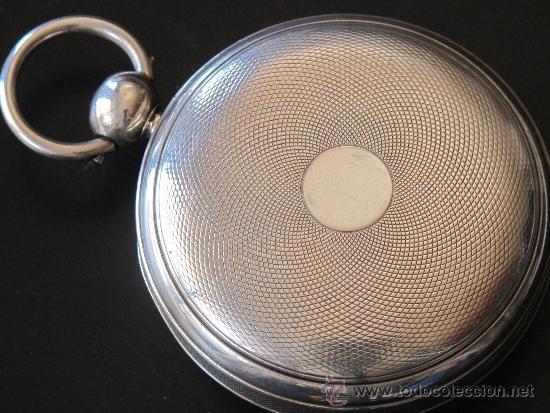Relojes de bolsillo: MAGNIFICO RELOJ BOLSILLO CAJA PLATA - LLAVE - FUNCIONA PERFECTAMENTE - Foto 4 - 90349370