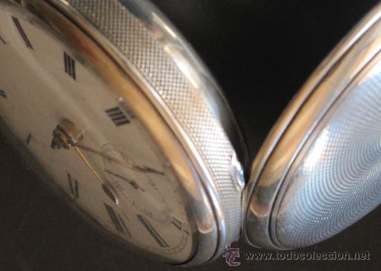 Relojes de bolsillo: MAGNIFICO RELOJ BOLSILLO CAJA PLATA - LLAVE - FUNCIONA PERFECTAMENTE - Foto 6 - 90349370