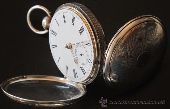 Relojes de bolsillo: MAGNIFICO RELOJ BOLSILLO CAJA PLATA - LLAVE - FUNCIONA PERFECTAMENTE - Foto 8 - 90349370
