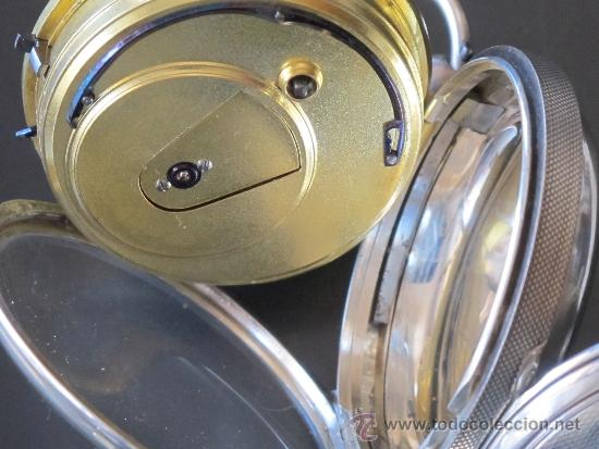 Relojes de bolsillo: MAGNIFICO RELOJ BOLSILLO CAJA PLATA - LLAVE - FUNCIONA PERFECTAMENTE - Foto 10 - 90349370