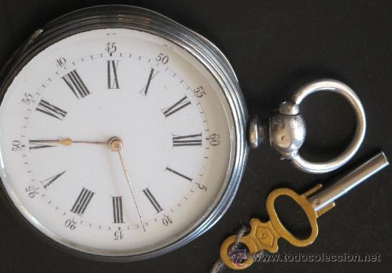 ORIGINAL ANTIGUO RELOJ BOLSILLO LLAVE - FUNCIONA PERFECTAMENTE (Relojes - Bolsillo Carga Manual)