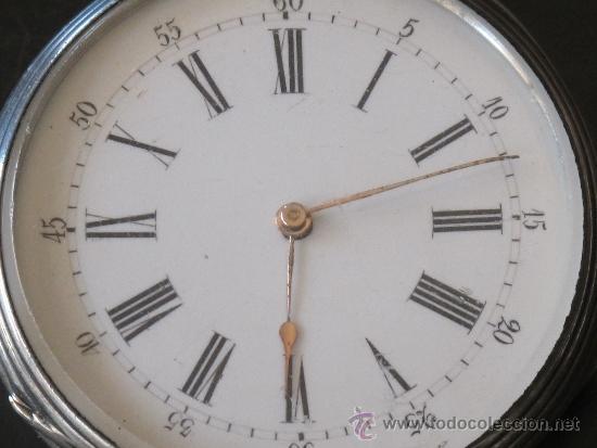 Relojes de bolsillo: ORIGINAL ANTIGUO RELOJ BOLSILLO LLAVE - FUNCIONA PERFECTAMENTE - Foto 2 - 31240251