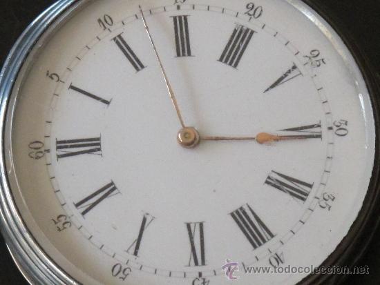 Relojes de bolsillo: ORIGINAL ANTIGUO RELOJ BOLSILLO LLAVE - FUNCIONA PERFECTAMENTE - Foto 3 - 31240251