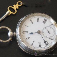 Relojes de bolsillo: RELOJ BOLSILLO - PLATA - FUNCIONA PERFECTAMENTE. Lote 31240620