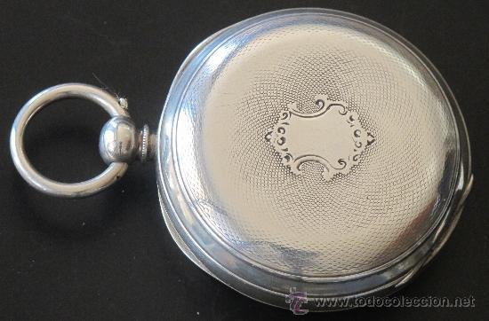 Relojes de bolsillo: RELOJ BOLSILLO - PLATA - FUNCIONA PERFECTAMENTE - Foto 3 - 31240620