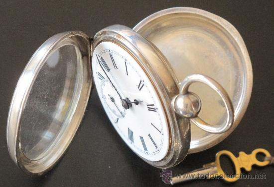 Relojes de bolsillo: RELOJ BOLSILLO - PLATA - FUNCIONA PERFECTAMENTE - Foto 4 - 31240620