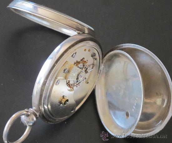 Relojes de bolsillo: RELOJ BOLSILLO - PLATA - FUNCIONA PERFECTAMENTE - Foto 5 - 31240620