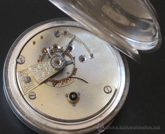 Relojes de bolsillo: RELOJ BOLSILLO - PLATA - FUNCIONA PERFECTAMENTE - Foto 6 - 31240620
