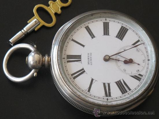 RELOJ BOLSILLO - PLATA - FUNCIONA PERFECTAMENTE - LLAVE (Relojes - Bolsillo Carga Manual)