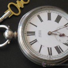 Relojes de bolsillo: RELOJ BOLSILLO - PLATA - FUNCIONA PERFECTAMENTE - LLAVE. Lote 31240708