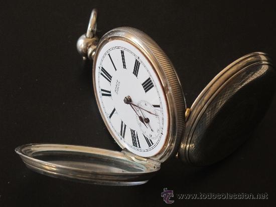 Relojes de bolsillo: RELOJ BOLSILLO - PLATA - FUNCIONA PERFECTAMENTE - LLAVE - Foto 5 - 31240708
