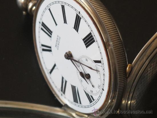 Relojes de bolsillo: RELOJ BOLSILLO - PLATA - FUNCIONA PERFECTAMENTE - LLAVE - Foto 6 - 31240708