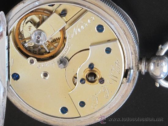 Relojes de bolsillo: RELOJ BOLSILLO - PLATA - FUNCIONA PERFECTAMENTE - LLAVE - Foto 7 - 31240708