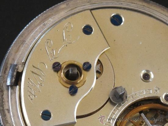 Relojes de bolsillo: RELOJ BOLSILLO - PLATA - FUNCIONA PERFECTAMENTE - LLAVE - Foto 8 - 31240708