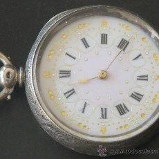 Relojes de bolsillo: RELOJ BOLSILLO - PLATA - LLAVE - FUNCIONA PERFECTAMENTE. Lote 31241214