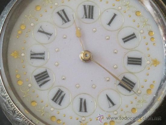 Relojes de bolsillo: RELOJ BOLSILLO - PLATA - LLAVE - FUNCIONA PERFECTAMENTE - Foto 2 - 31241214