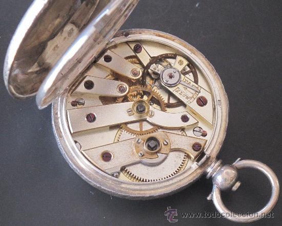 Relojes de bolsillo: RELOJ BOLSILLO - PLATA - LLAVE - FUNCIONA PERFECTAMENTE - Foto 6 - 31241214