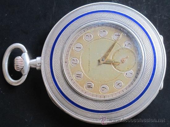 TAVANNES WATCH CO 1891 RELOJ EXTRAPLANO PLATA - FUNCIONA PERFECTAMENTE (Relojes - Bolsillo Carga Manual)