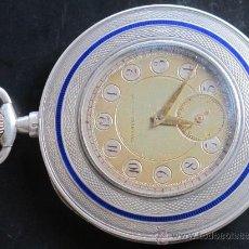 Relojes de bolsillo: TAVANNES WATCH CO 1891 RELOJ EXTRAPLANO PLATA - FUNCIONA PERFECTAMENTE. Lote 194248266